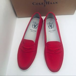 💯ColeHaan Pinch Lite Red Canvas Shoes❤️